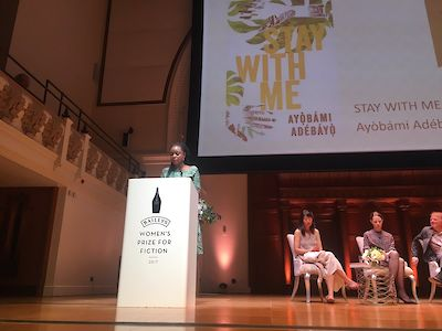 Stay With Me - @BaileysPrize Ayobami reading tweet