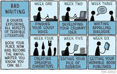 Tom Gauld's Bad Writing Course comic