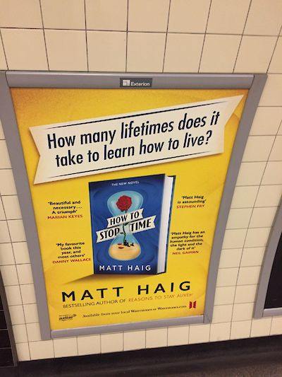 Matt Haig How to Stop Time billboard tweet