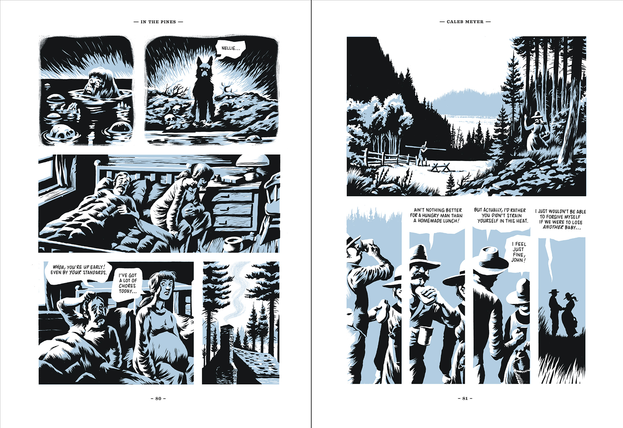 in the pines five murder ballads is our first graphic novel