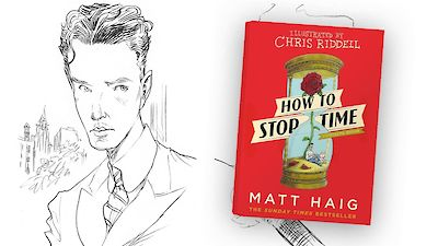 Waterstones How to Stop Time illustrated tweet