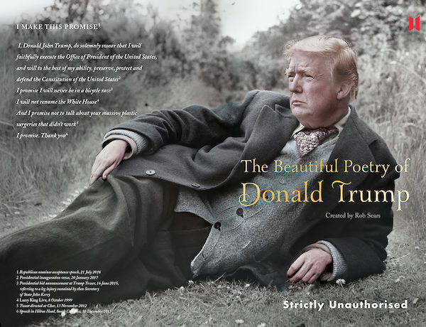 The Beautiful Poetry of Donald Trump cover spread
