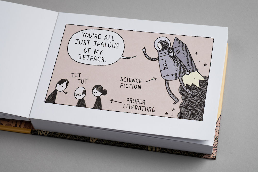 Image result for The Snooty Bookshop: 50 Literary Postcards by Tom Gauld
