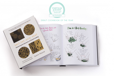 Salt, Fat, Acid, Heat is the Fortnums Debut Cookbook of the Year!