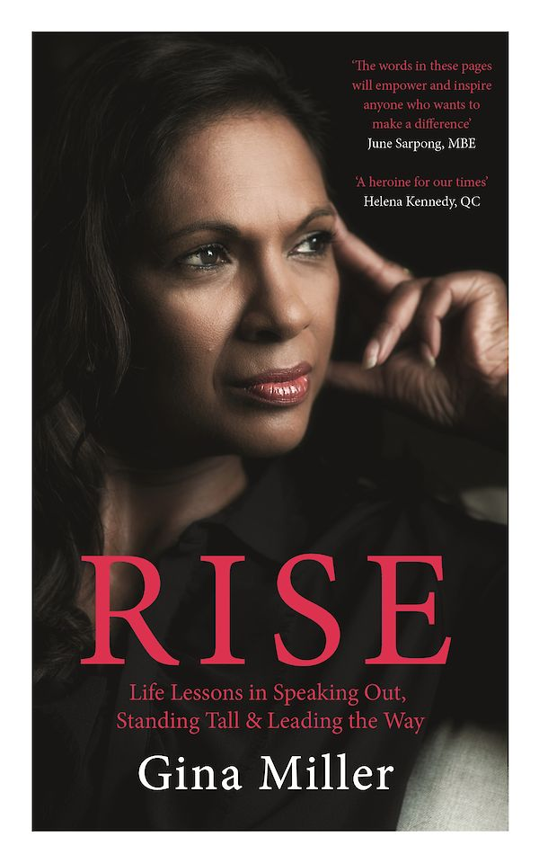 Rise by Gina Miller (Hardback ISBN 9781786892904) book cover